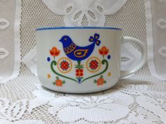 Vintage 1975 Fred Roberts Co. Soup Mug, Lancaster County, Pennsylvania Dutch on Etsy, $16.00