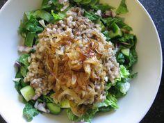 Lentil Fattoush Salad – LGMFstyle   The Kitchen Mix Raw Vegan Recipes, Vegetarian Options, Greek Recipes, Mexican Food Recipes, Healthy Recipes, Lentil Salad Recipes, Veggie Recipes, Veggie Food, Copycat Recipes