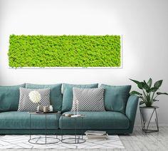 Moosbilder sind ein echter Hingucker - auch in gemütlichen Stunden über dem Sofa ;) Outdoor Sofa, Outdoor Furniture, Outdoor Decor, Island Moos, Love Seat, Couch, Home Decor, Settee, Decoration Home
