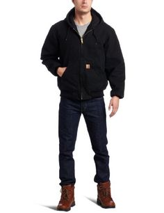 Carhartt Men's Big and Tall Sandstone Duck Active Jacket - Quilted Flannel Lined