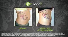 It works wraps before and after. Get your full treatment of wraps for $59 as a loyal customer. www.wraps-diva.com