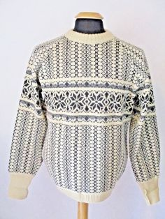5ffc3ad2bed0b3 Robbins Mens Sweater Large Black White 100% Wool Great Britain Crew Neck  T15 #fashion #clothing #shoes #accessories #mensclothing #sweaters (ebay  link)