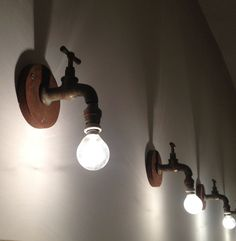 Original lighting made with old taps.