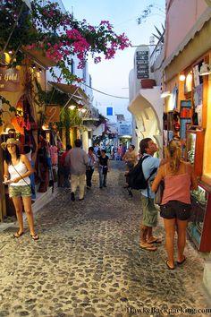 Shopping in Fira, Santorini