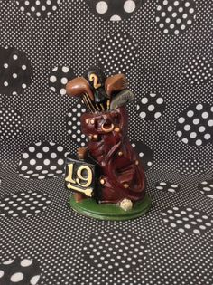 Hole in 19~Golf Bag~Door Stop~Cast Iron~Vintage by RubyJeanRummage on Etsy