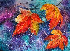 Осенний мастер-класс: акварель по-мокрому – 10 фотографий