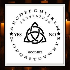12 X 12 STENCIL Round/Circle Ouija Board w/Triquetra  Witch/Ghost/Celtic/Wiccan  #TheCrafteeDragon