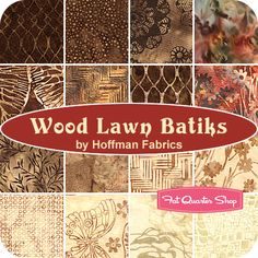 Wood Lawn Batiks Fat Quarter Bundle  Hoffman Fabrics