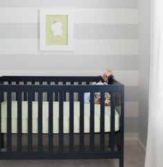 Want a pop of color in the nursery? Consider the crib! We've rounded up our faves. #nursery #crib