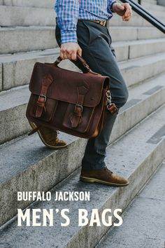 Amazing collection of leather bags and accessories for men. Impressive quality and attention to detail. Bison leather traditional leather vintage and more. Duffle Bag Travel, Duffle Bags, Travel Bags, Tote Bags, Leather Duffle Bag, Leather Briefcase, Rugged Men, Rugged Style, Men's Leather
