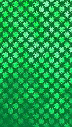 free shamrock four leaf clover saint patricks day iphone wallpaper