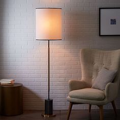 west elm + Rejuvenation Cylinder Floor Lamp #westelm