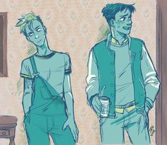Jean and Marco from my HFatP au. x - x;;
