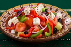 Free Image on Pixabay - Food, Plate, Greek Salad, Caprese Salad Recipes, Diet Recipes, Vegetarian Recipes, Healthy Recipes, Healthy Lunches, Recipes Dinner, Easy Recipes, Chicken Recipes, Burger Recipes