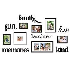 DL furniture - Family Set Photo Frame & Plaque College Frame - Wall Decoration Combination - PVC Picture Frame Selfie Gallery Collage With Full Size Hanging Template & Wall Mounting Design, Bronze Family Tree Picture Frames, Family Tree With Pictures, Family Photo Collages, Family Tree Photo, Family Collage, Picture Frame Sets, Collage Picture Frames, Frames On Wall, Picture Wall