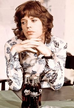 Mick Jagger (notice the eyeliner) in Amsterdam, 1973.