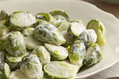 How do you turn plain old Brussels sprouts into a super side dish?  Toss hot cooked Brussels sprouts with a creamy lemon dressing and you've got yourself a versatile veggie side dish that your family will love.