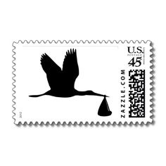 Stork - Baby Stamps by Thinkdifferent