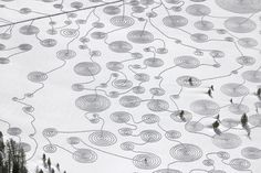 Snow Drawings at Rabbit Ears Pass, Colorado by Sonja Hinrichsen