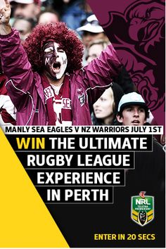 Manly Perth promotion Rugby League, Perth, Promotion