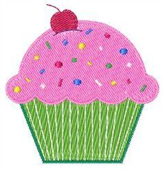 Cupcake machine embroidery design - top seller!