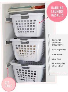 DIY Hanging Laundry Baskets..