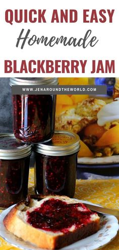 Freezer Jam Recipes, Jelly Recipes, Canning Recipes, Easy Jam Recipes, Drink Recipes, Canning 101, Cocktail Recipes, Blackberry Jam Recipe Easy, Blackberry Freezer Jam