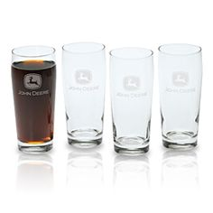 John Deere Tall Beverage Glass Set