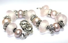 Rose Quartz and Pink Pearls with Baby's Breath beads! Love the Rose Quartz beads! To see click on link! http://www.trollbeadsgallery.com/rose-quartz/