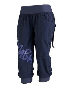 Take a look at this Indigo Feelin' It Cargo Capri Pants by Zumba® on #zulily today!