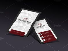 Red Modern Business Card by LnD Creative on @creativemarket