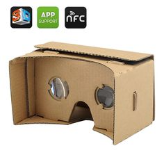 The DIY Google Cardboard VR mobile phone 3D glasses headset, instantaneously transforms your Smartphone into a VR headset. Google 3D VR Glasses At the Google I/O conference this year attendees were ha