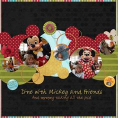 Mickey Heads and circle photos! Love this idea!