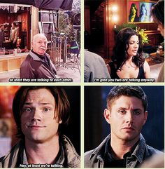 6x15 The French Mistake [gifset] - At least they're talking - Sam and Dean Winchester, Supernatural