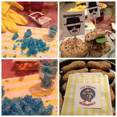 """Breaking Bad Party Food:: xLaurieClarkex-- definitely falls into the """"unique"""" party category.. :-D #heisenburger"""