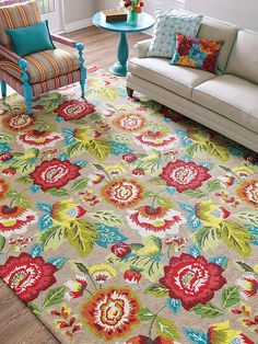 Cream of the Crop is hand-hooked in beautifully hued in shades of berry, red and orange. wool, this floral rug features cottage blooms that pop off a driftwood background. Cost Of Carpet, Diy Carpet, Rugs On Carpet, Victorian Wallpaper, Target Rug, Cheap Rugs, Rug Company, Natural Fiber Rugs, Hand Embroidery