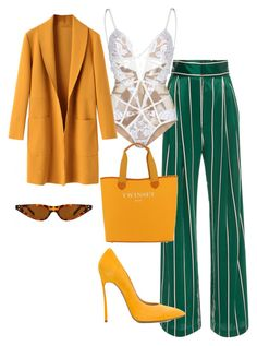 """""""Untitled #113"""" by awande-duma on Polyvore featuring For Love & Lemons, Casadei and Twinset"""