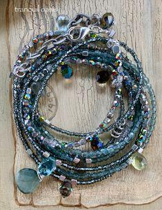 Shop link is in my bio, thanks for looking! Coin Jewelry, Beaded Jewelry, Beaded Bracelets, Jewellery, Bohemian Bracelets, Bohemian Necklace, Tanzanite Earrings, Blue Topaz Necklace, Wire Wrapped Earrings