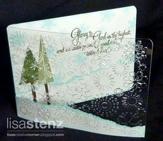 Christmas acetate cuttlebug snowflakes EF card