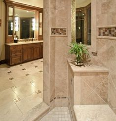 Small Mosaic Tile Accents Can Really Dress Up A Tile Floor (by Aneka ...