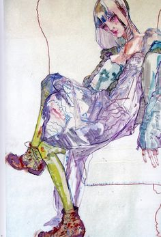 fashion drawings Howard Tangye - fashion illustration More - Illustration Mode, Fashion Illustration Sketches, Fashion Sketchbook, Fashion Drawings, Portrait Illustration, Art Illustrations, Figure Painting, Figure Drawing, Painting & Drawing