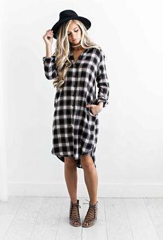 plaid dress, fall style, fall outfit, fall fashion, womens fashion, shop jessakae