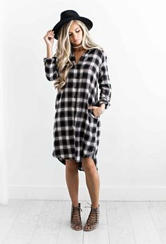 plaid dress, fall style, fall outfit, fall fashion, womens fashion, shop jessakae