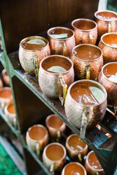 Moscow Mules in Traditional Copper Mugs at a Sophisticated Southern Wedding at the Ford Plantation in Savannah, Georgia The Knot, Rain Wedding, Wedding Reception, Wedding Fun, Reception Ideas, Wedding Ideas, Savannah Georgia, Savannah Chat, Copper Mugs