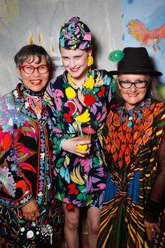 Jenny Kee, Anna Plunkett, Linda Jackson