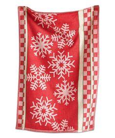 Look at this #zulilyfind! Snowflake Jacquard Dish Towel #zulilyfinds