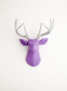 The Sophia  Lavender W/ Silver Glitter by WhiteFauxTaxidermy, $139.99