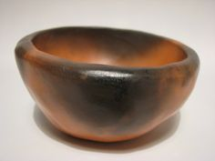 Smoke Fired Burnished Terracotta Bowl by Lesley Doe of Doe&Day (LDV010)