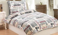 Oblieček Mikrovlákno a Mikroflanel Newspaper, i-matrace. Earth Color, Comforters, Blanket, Bed, Furniture, Home Decor, Creature Comforts, Quilts, Decoration Home