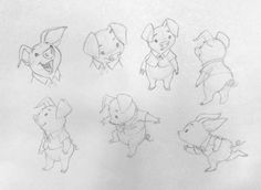 The model sheet James Baxter did for his lecture at Gobelins.